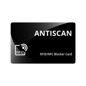 Card protectie Antiscan negru