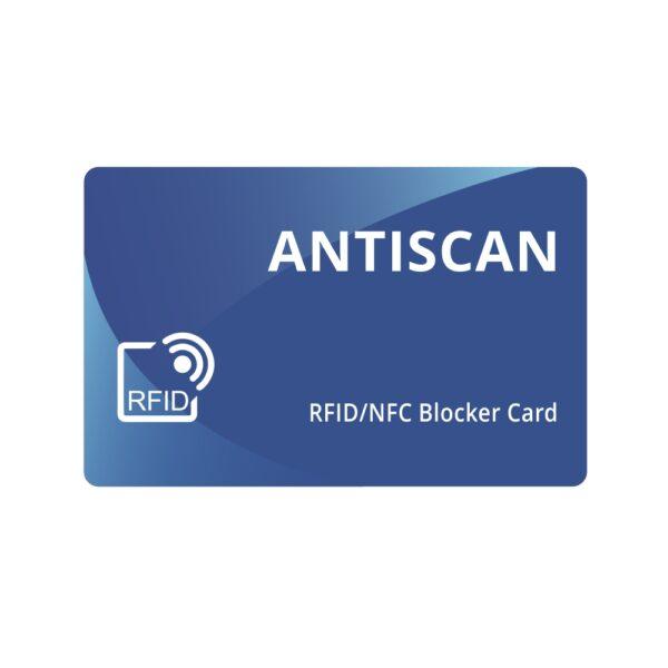Card Antiscan albastru